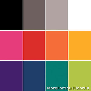 Shades Plain Coloured Vinyl Flooring Bright Colours