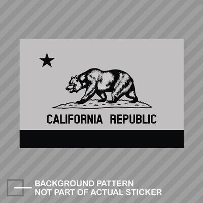 California Flag State Shaped Sticker Decal Vinyl republic CA california native