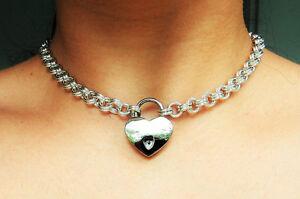 Locking bdsm chain collar