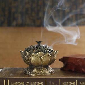 Home-Chinese-Lotus-Incense-Burner-Holder-Flower-Statue-Censer-Room-Decoration