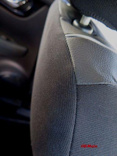 Negro De Cuero Ecológico Adaptada juego completo de fundas de asiento VW TIGUAN Comfortline 2015-en