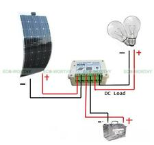 100W 12V Bendable Flexible Mono Solar Panel Kit+15A Charge Controller for Boat