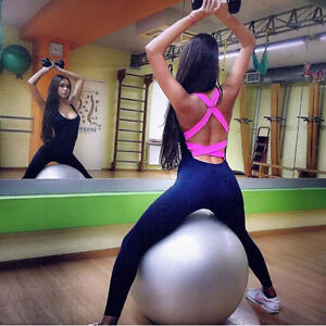 Womens-Sports-YOGA-Workout-Gym-Fitness-Leggings-Pants-Jumpsuit-Athletic-Clothes