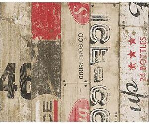 Dettagli su Carta da Parati per cucina | Legno Bar Red di alta qualità  effetto legno