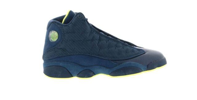 huge discount 9ca2c d37de Nike Air Jordan 13 Retro Squadron Blue Yellow Black 414571-405 Mens Size 11