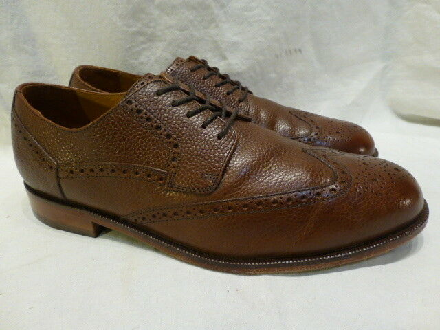 Cole Haan Air Cartner Wingtip Brown Leather Oxfords Mens shoes 11M Mint