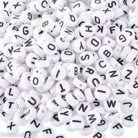 "1000 White Mixed Letter/ Alphabet Acrylic Beads 7mm(1/4"")"