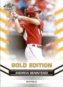 034-Raro-034-Andrew-Benintendi-2015-Hoja-Draft-034-Oro-Edicion-034-Carta-Rookie