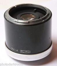 Vivitar 3x-4 Variable Auto Teleconverter +Tube For Canon FD FL Japan - USED D38