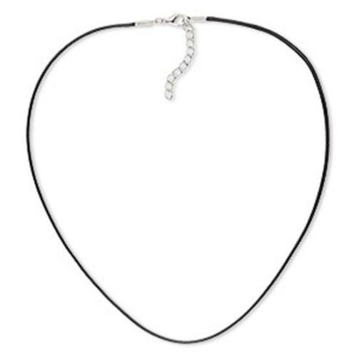 environ 45.72 cm UK boutique  * Collier Cordon ciré coton noir 18 in 1.5 Mm PK4