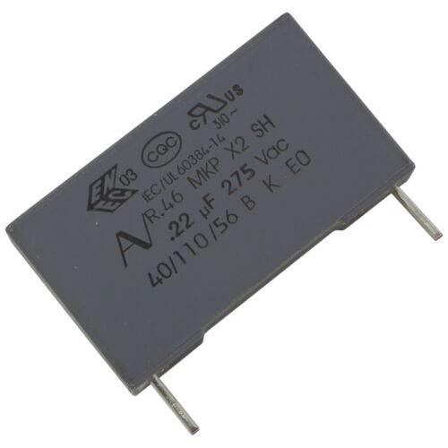 4 Kemet r46kn322000m1m mkp-funkentstörkondensator 275v 220nf rm22 5 856649