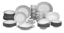 MIKASA China Parchment 58 Piece Set + Gravy Boat, Butter Dish, & Oval Platter