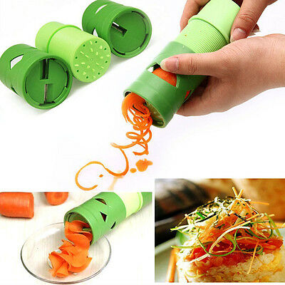 New Home Fruit Vegetable Cutter Twister Food Processor Spiral Slicer Grater