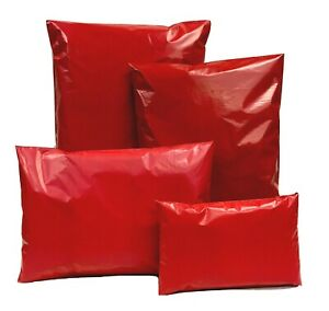 Red-Coloured-Mixed-Mailing-Bag-Poly-Postal-Mail-Polythene-Post-Strong-4-Sizes