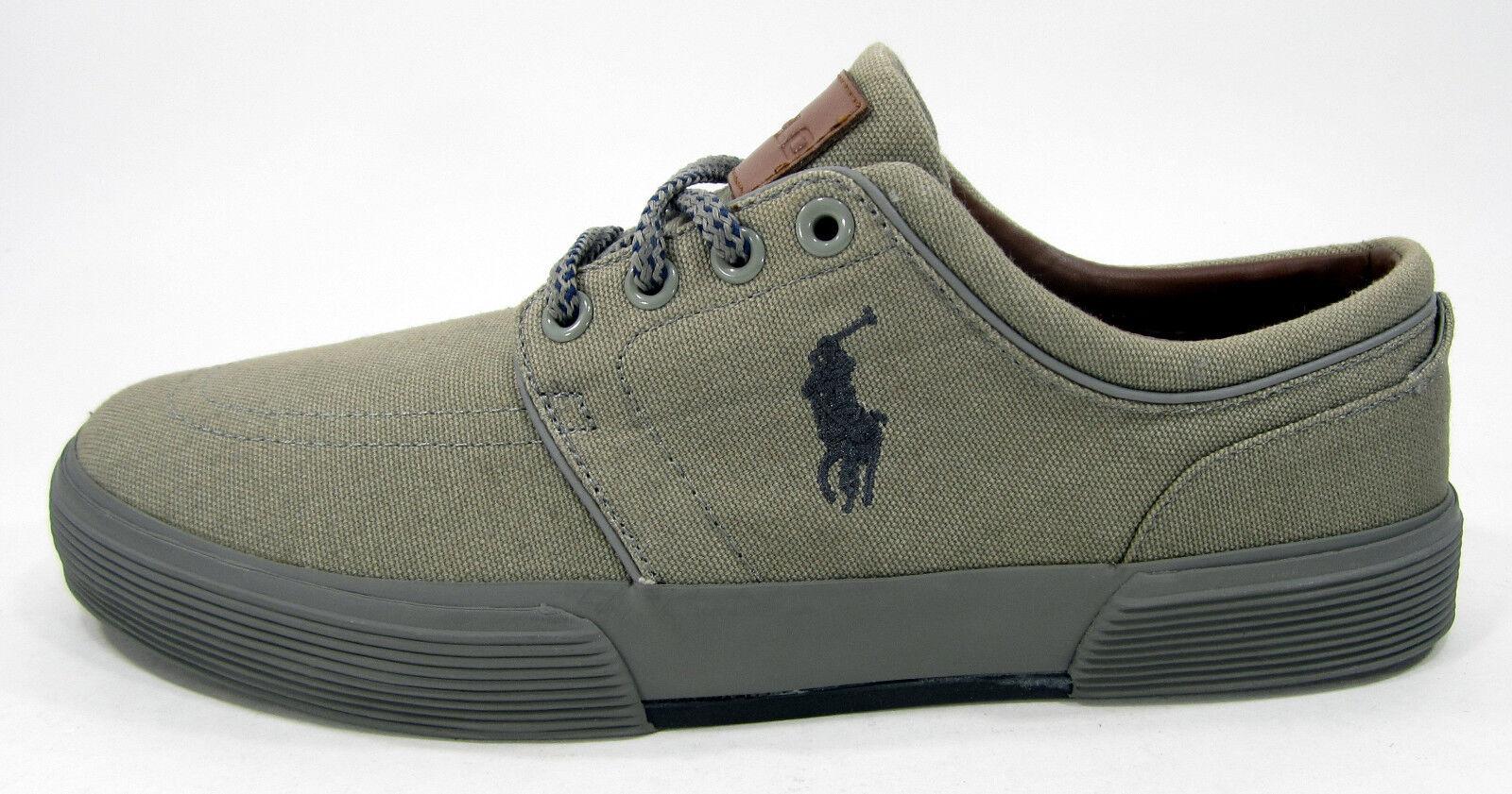 Polo ralph grey lauren scarpe faxon basso tela grey ralph scarpe taglia 9 e514f2