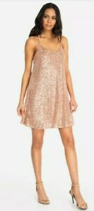 Nwt 228 Johnny Was Adnaro Rose Gold Sequin Swing Dress Size S New Years Eve Ebay