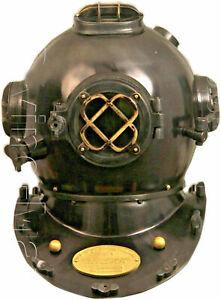 Copper Antique Vintage Scuba Diving Helmet US Navy Mark V Deep Sea Boston Divers
