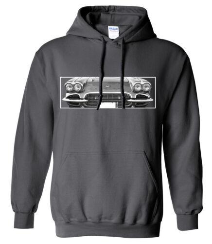61 Corvette Hot Rod Hoodie 1961 Chevy Vette Car Sweatshirt hooded sweater
