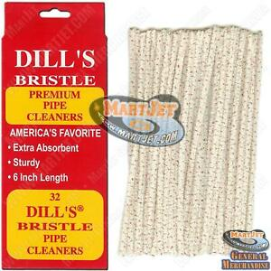 Dills Bristle Cotton Pipe Cleaner Absorbent Sturdy Rigid Tobacco Strong Cleaning