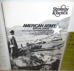 Strategy-amp-Tactics-Mag-w-Game-S-amp-T-30-Combat-Command-op-1972-Platoon-Co-Level