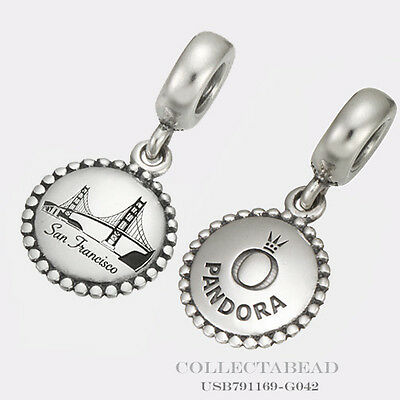 Authentic Pandora Silver San Francisco Destination Bead USB791169-G042 *LAST ONE