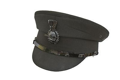 Quality Black Formal Traditional Satin Lined Chauffeurs Driver Cap With Cockade Den Speichel Auffrischen Und Bereichern Herren-accessoires