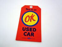 Chevrolet Dealer Ok Used Car Warranty Orange Tag With Hole