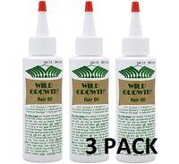 Wild Growth 4oz Hair Oil Detangler/extender Olive, Jojoba, Coconut Oil 3 Pack