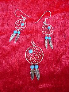 Nice Jewelry Set__Indian Jewelery__925ilber__Turquoise__ Earrings And Pendant
