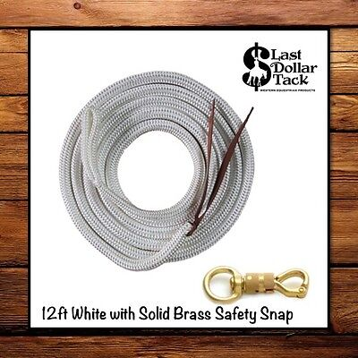Cows Sheep FREE UK POSTAGE Bulls Lead Rope White Showing Horses
