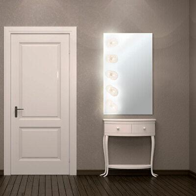 Luxus Spiegel Leuchte Wand Lampe Bade Zimmer Beleuchtung Kugel Alu Geflecht