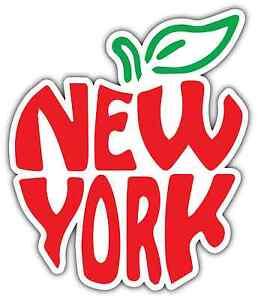 new york big apple city state i love ny car bumper vinyl sticker