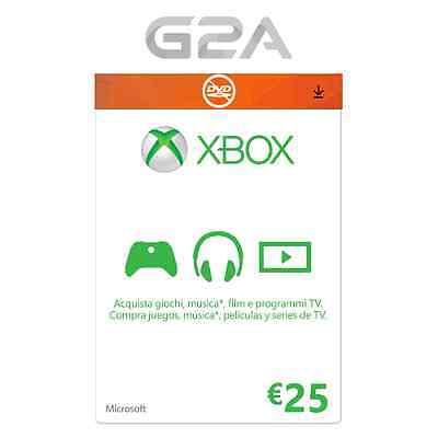 Xbox Live ?25 EUR Tarjeta 25 Euro - Microsoft Xbox Live One/360 25? Código ES/EU