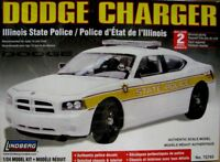 Lindberg 1:24 Scale Dodge Charger Illinois Police Car Model Kit New- Now