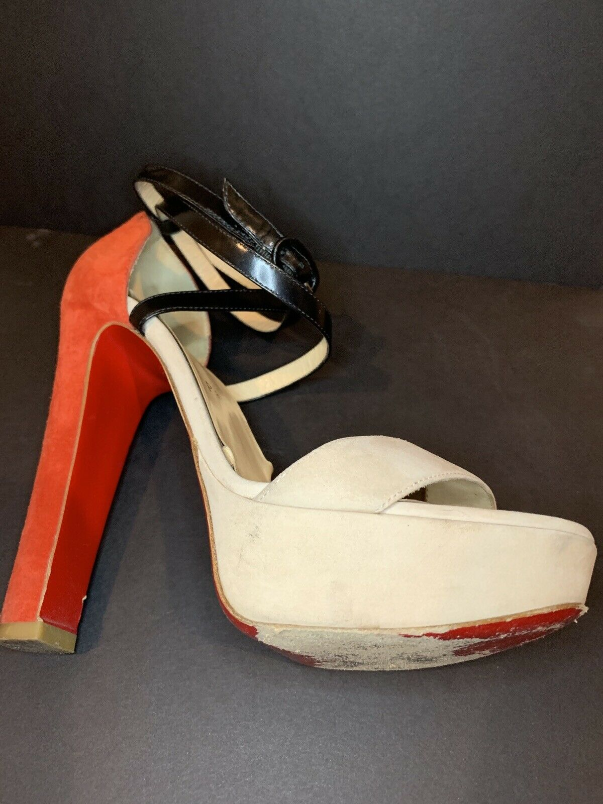 Christian Christian Christian Louboutin Summerissima Sandal Platform Ankle Strap Heels 36.5 1085fe