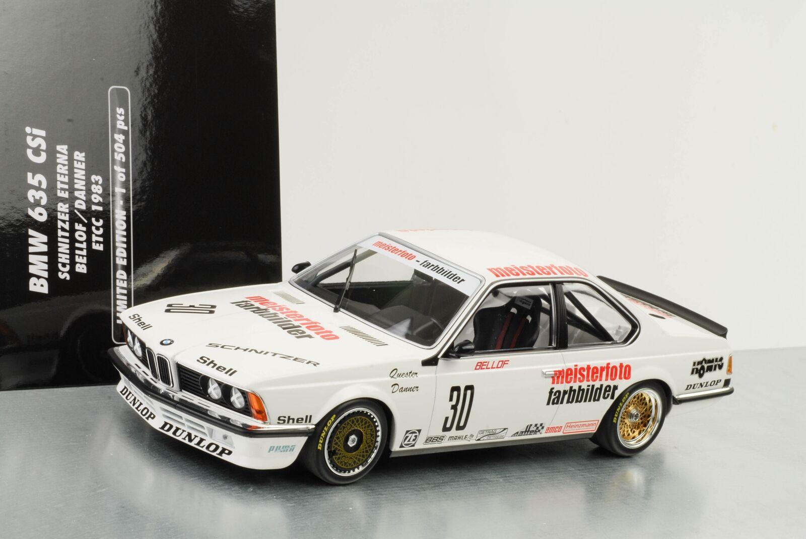1983 BMW 635 CSI  30 ETCC Boulette Eterna Bellof Zolder 1 18 Minichamps
