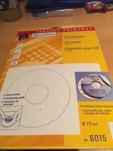 AVERY-Zweckform-6015-25-CD-Etiketten-117-mm-weiss-matt-50-Etiketten-OVP