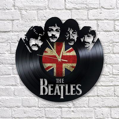 BEATLES vinyl wall clock