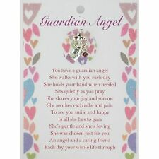 Guardian Angel Lapel Pin & Inspirational Message Card Gift