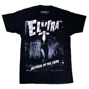 Kreepsville-666-Elvira-Gothic-Horror-Mistress-of-the-Dark-Black-T-Shirt-Size-L