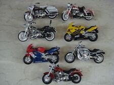 Lot of 7 Maisto Assorted Collectible Mini Motocycles Honda & Harley Davidson