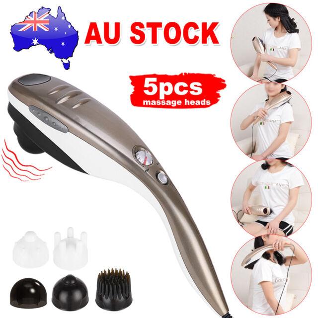 Electric Full Body Handheld Massager Neck Back Massage Hand Shiatsu Shoulder AU