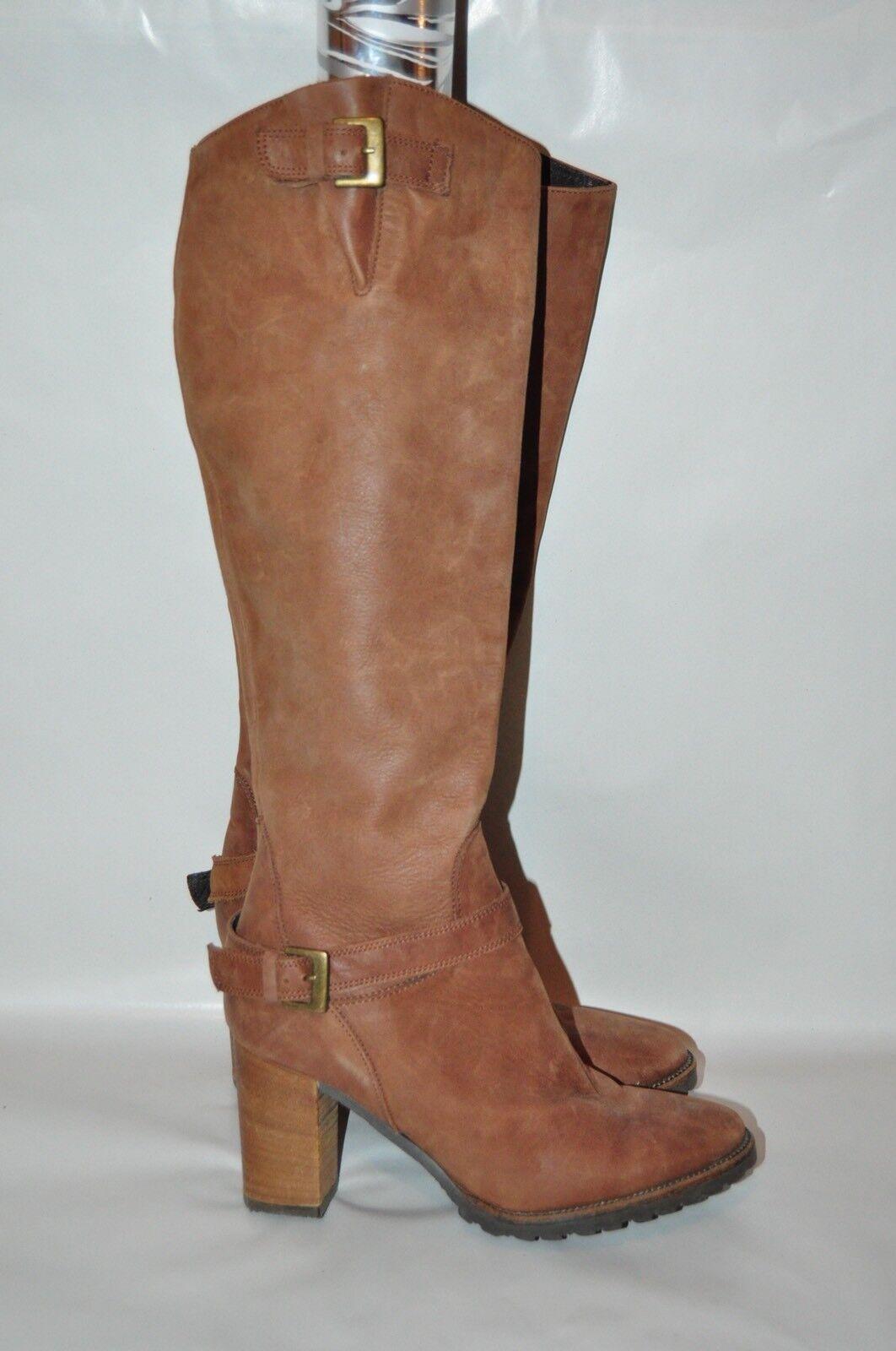 Nuevas botas de cuero italiano todos fabianelli Bronceado Bronceado Bronceado Cremallera Lateral Talla 6 (36)  la mejor oferta de tienda online