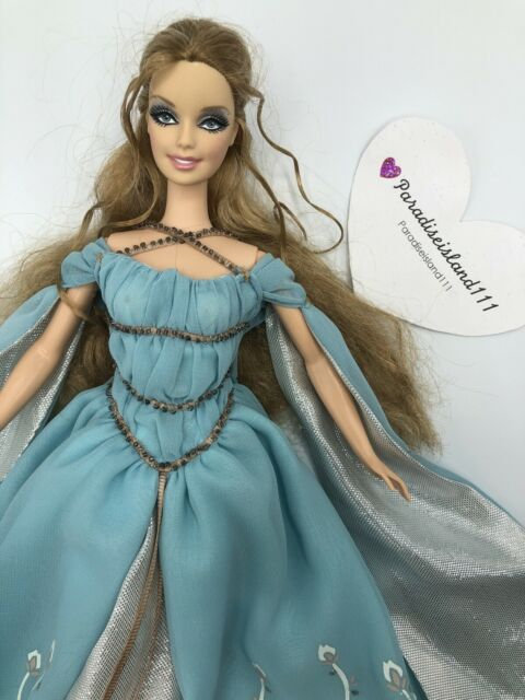 Barbie Collectible Ethereal Princess Barbie Pink Label Doll 2006 Blue Gown
