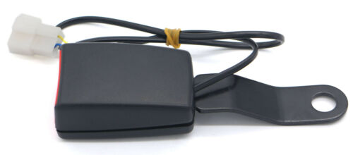 22.5 cm Tongue Width Black /& Red Car Seat Belt Lock Buckle with Warning Cable