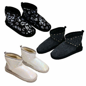 Victoria-039-s-Secret-Mukluk-Bootie-Fur-Lined-Boot-Slippers-Bling-Vs-Pink-New-Nwt