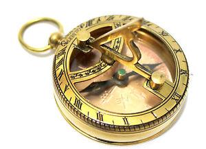 b6fa5ec60690 La imagen se está cargando Coleccionable-Laton-Reloj-De-Sol-amp-Brujula -Bolsillo-