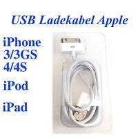 iPhone 3 3GS 4 4S iPad iPod USB Ladekabel Lader Ladegerät Ladeadapter Handy