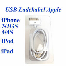 iPhone 3 3GS 4 4S iPad iPod USB Ladekabel Lader Ladegerät Ladeadapter Handy