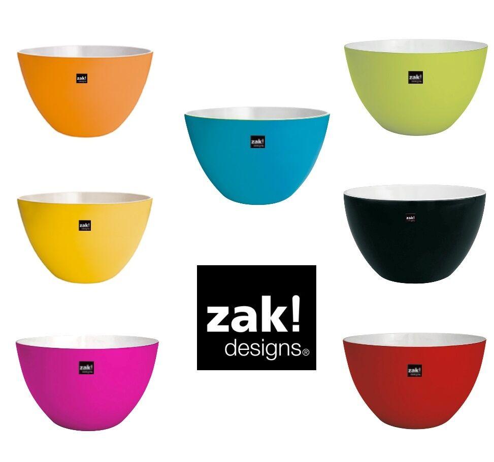 ZAK design Schüssel Set 7-teilig DUO 18 cm in 7 Farben Müslischale Outdoor Party  | Viele Sorten